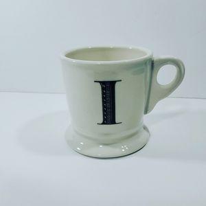Anthropologie Monogram I Coffee Mug